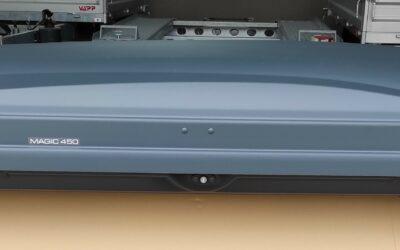 Střešní box HAKR Magic Line 450 – šedý HV2450/HV0860